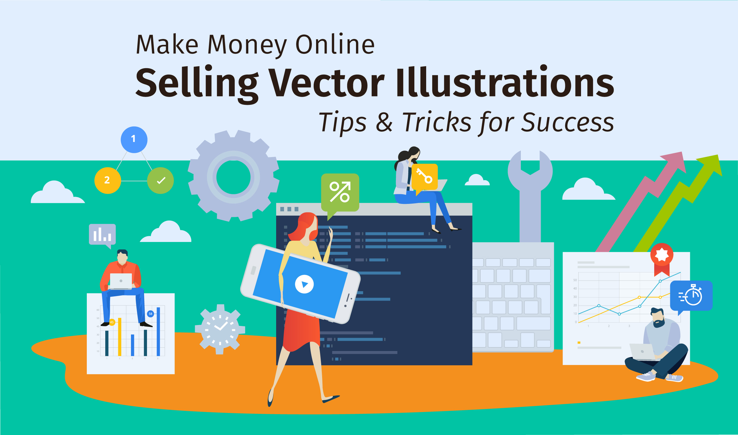 how to make money online selling vector illustraiots